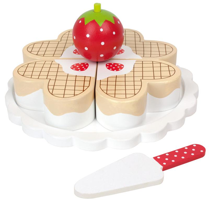 Jabadabado hei er waffel kuchen aus holz bei spielzeug24 - Kuchen wandregal holz ...