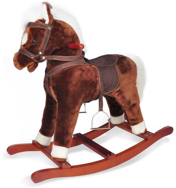 Knorrtoys Schaukelpferd Brauny mit Pferdegeräuschen [Kinderspielzeug]