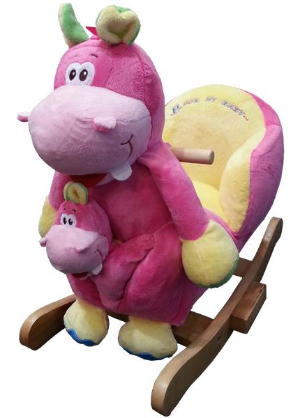 knorr-baby-schaukeltier-nilpferd-nelly-mit-handpuppe-pink-gelb-kinderspielzeug-