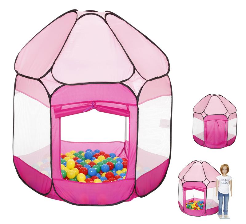 knorrtoys spielzelt b llebad mit 250 b llen pink bei. Black Bedroom Furniture Sets. Home Design Ideas