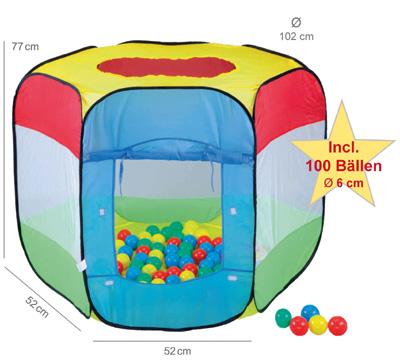 knorrtoys-spielzelt-ballebad-bendix-mit-100-ballen-kinderspielzeug-