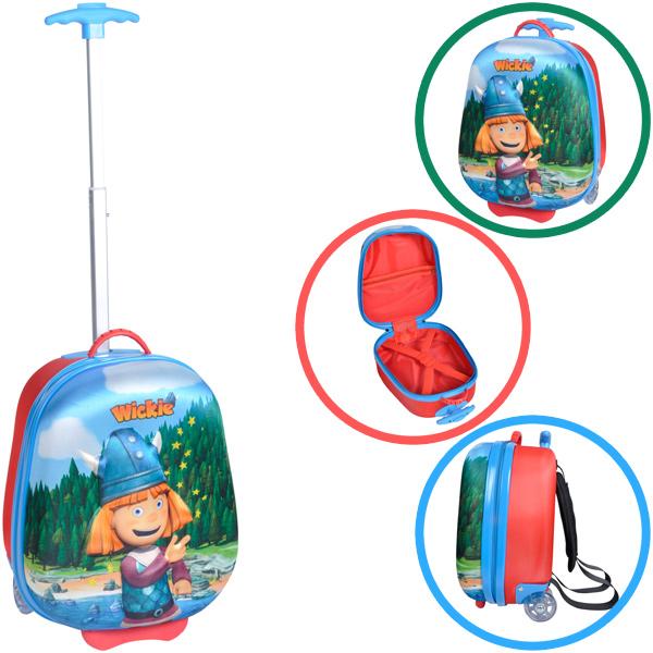 Knorrtoys Bouncie Trolley Kinderkoffer Wickie (Blau) [Kinderspielzeug]