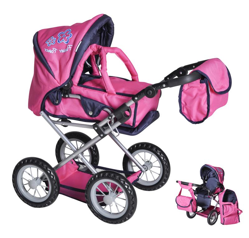 knorrtoys-puppenwagen-ruby-flower-power-pink-kinderspielzeug-