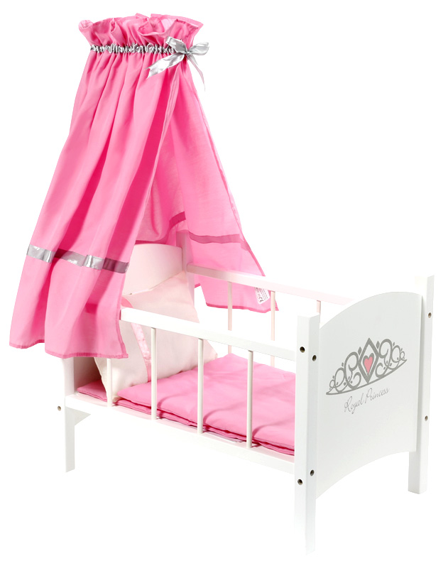Knorrtoys Puppenbett mit Himmel Royal Princess (Weiß) [Kinderspielzeug]
