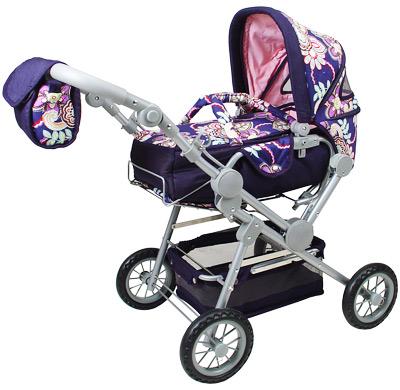 knorrtoys-puppenwagen-twingo-flowers-blau-kinderspielzeug-