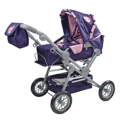 knorrtoys-puppenwagen-twingo-navy-rosa-kinderspielzeug-