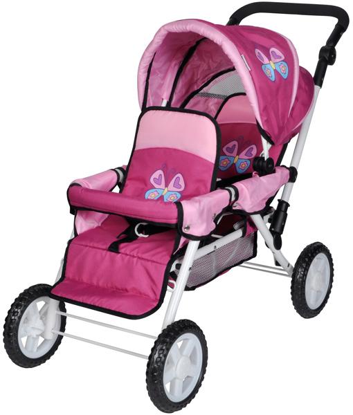Geschwisterwagen Big Twin für Puppen (Sweet Butterfly) [Kinderspielzeug]