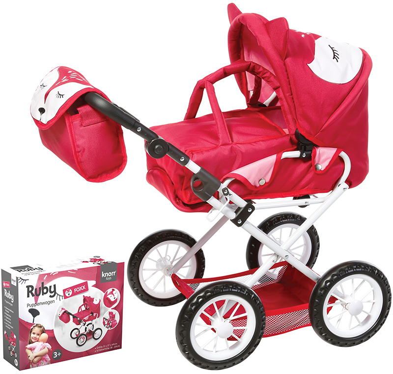 knorrtoys puppenwagen ruby foxx rot pink bei. Black Bedroom Furniture Sets. Home Design Ideas
