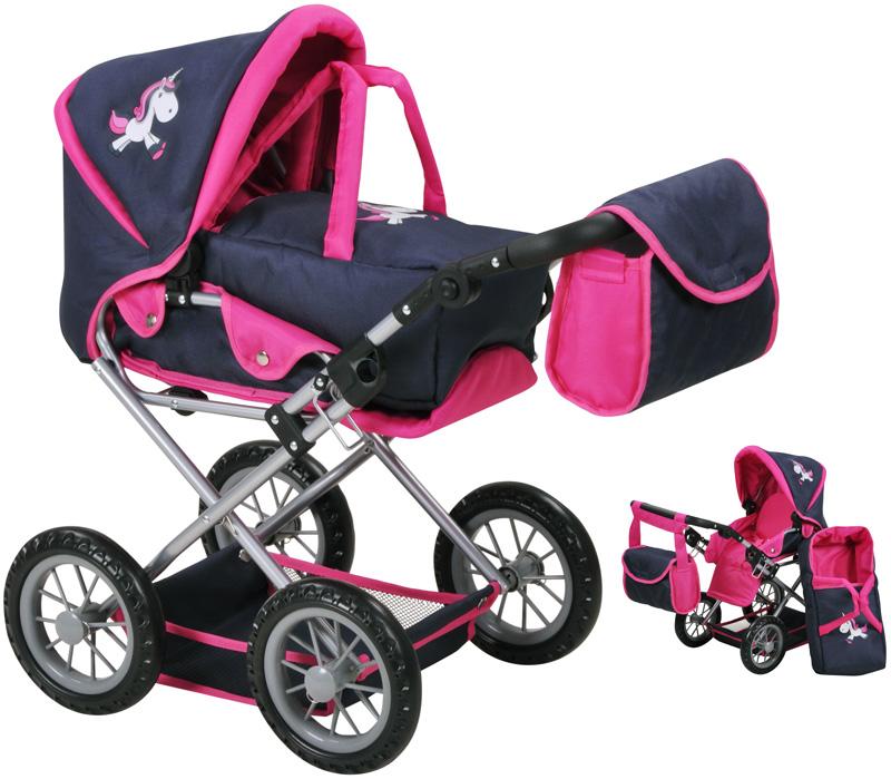 knorrtoys-puppenwagen-ruby-uma-das-einhorn-blau-pink-kinderspielzeug-