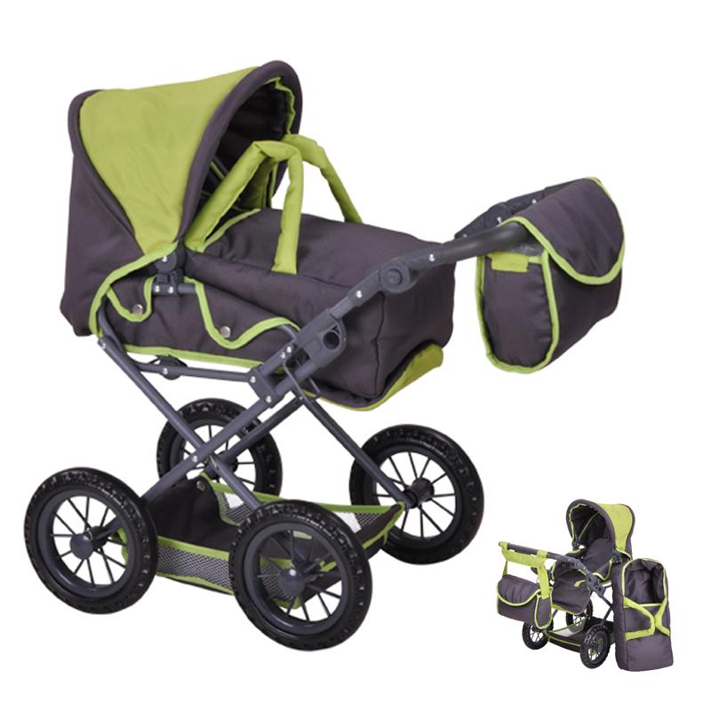 knorrtoys-puppenwagen-ruby-tec-green-kinderspielzeug-