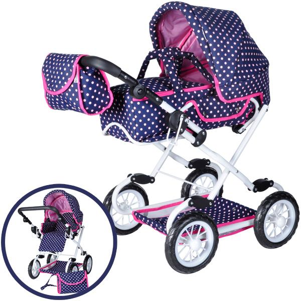 knorrtoys-puppenwagen-salsa-ocean-pink-dots-kinderspielzeug-