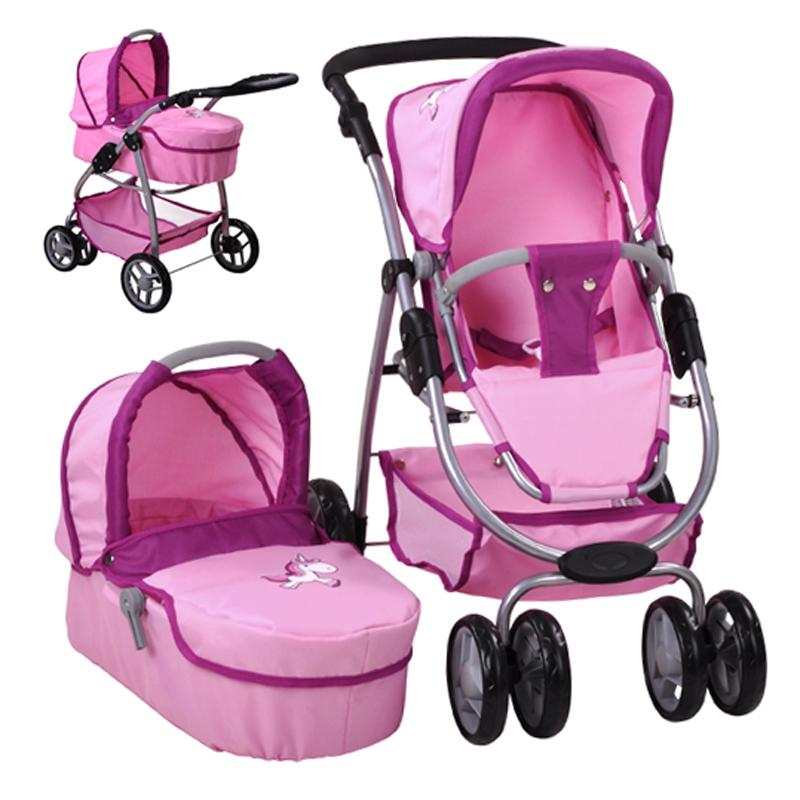 knorrtoys-puppenwagen-coco-2in1-uma-das-einhorn-rosa-kinderspielzeug-