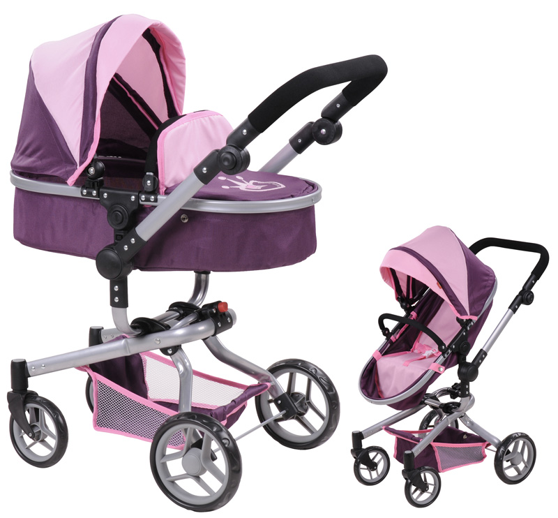 knorrtoys-puppenwagen-boonk-2in1-little-princess-pflaume-rosa-kinderspielzeug-