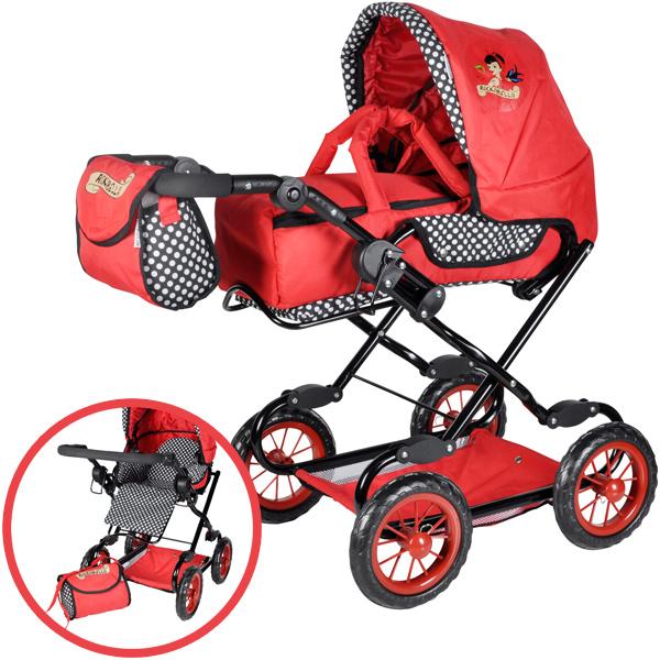 knorrtoys-puppenwagen-salsa-rockabella-rot-schwarz-kinderspielzeug-