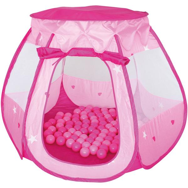 knorrtoys-spielzelt-ballebad-bella-mit-100-ballen-rosa-pink-kinderspielzeug-