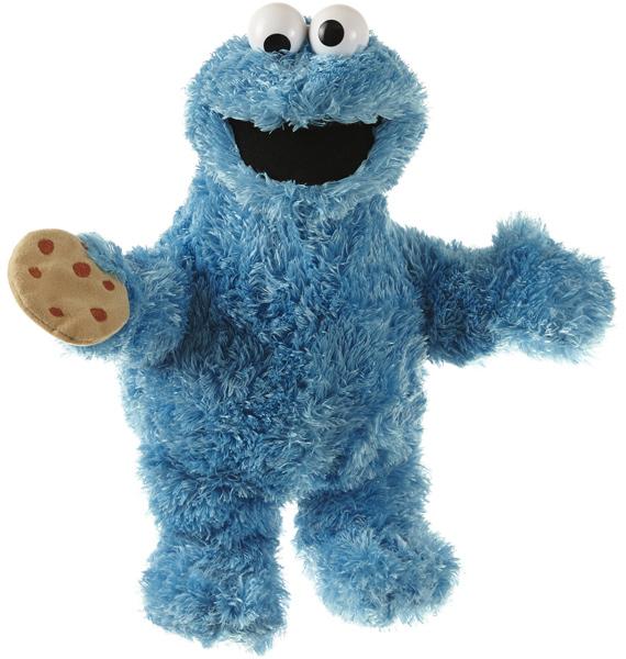 Sesamstrasse Plüschfigur Krümelmonster 35 cm (Blau) [Kinderspielzeug]