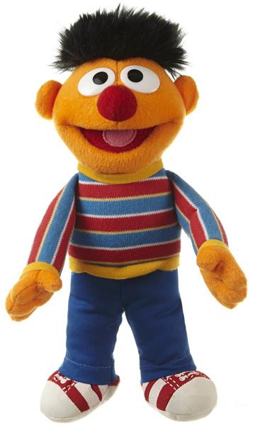 Sesamstrasse Kleine Plüschfigur Ernie 22 cm (Orange) [Kinderspielzeug]