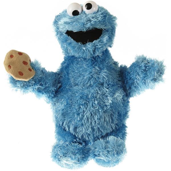 Sesamstrasse Kleine Plüschfigur Krümelmonster 22 cm (Blau) [Kinderspielzeug]