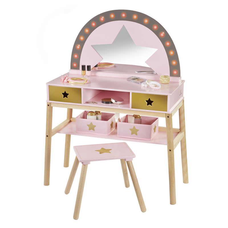 musterkind schminktisch malva aus holz rosa gold bei. Black Bedroom Furniture Sets. Home Design Ideas