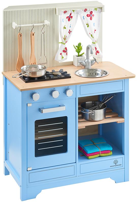 musterkind spielk che lavandula aus holz im landhausstil creme blau bei spielzeug24. Black Bedroom Furniture Sets. Home Design Ideas