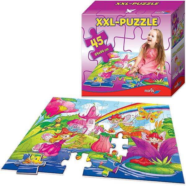 Noris XXL Bodenpuzzle Feenland mit 45 großen Teilen [Kinderspielzeug] - Preisvergleich
