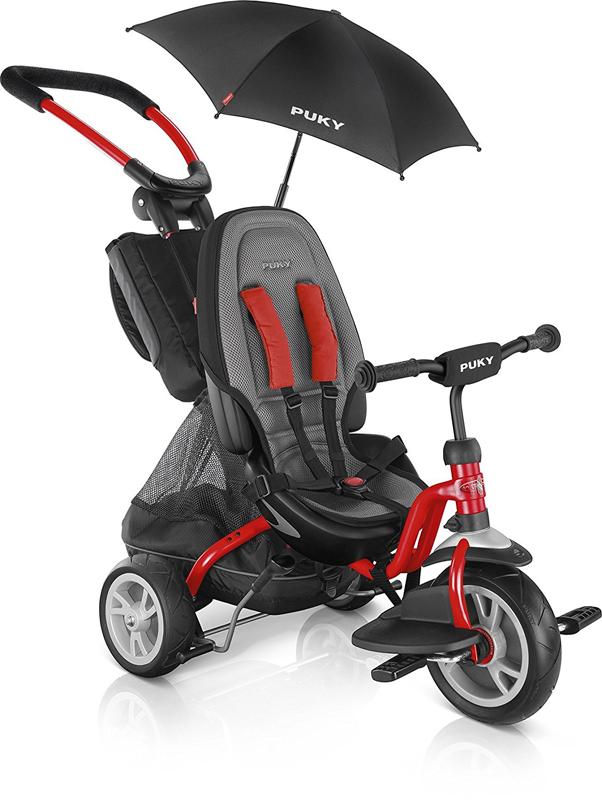 Puky Dreirad CAT S6 Ceety mit Sonnenschirm (Rot) [Kinderspielzeug]
