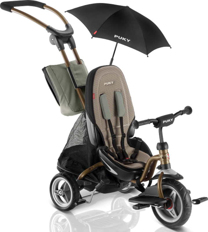 Puky Dreirad CAT S6 Ceety mit Sonnenschirm (Bronze) [Kinderspielzeug]