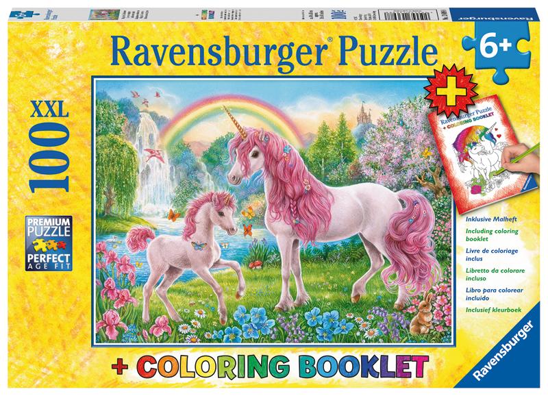 ravensburger kinderpuzzle und malbuch magische einh rner ab 6 jahren bei spielzeug24. Black Bedroom Furniture Sets. Home Design Ideas