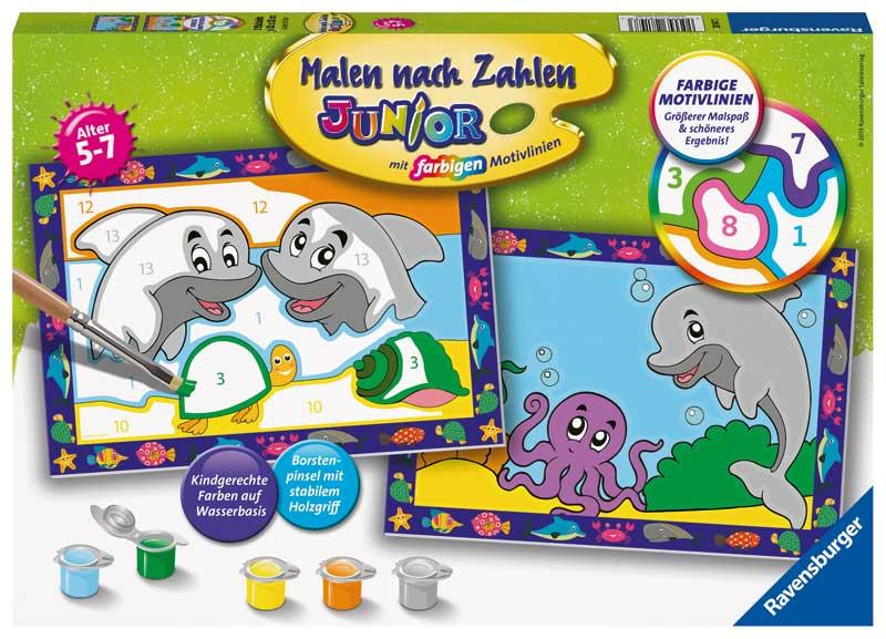 Ravensburger Malen Nach Zahlen Lustige Delfine Bei Spielzeug24