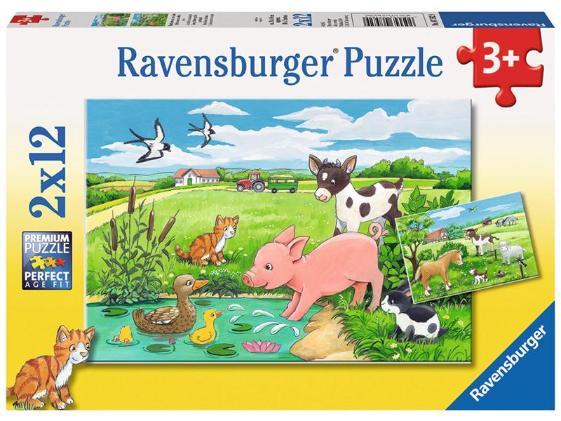 ravensburger kinderpuzzle tierkinder auf dem land ab 3 jahren bei spielzeug24. Black Bedroom Furniture Sets. Home Design Ideas