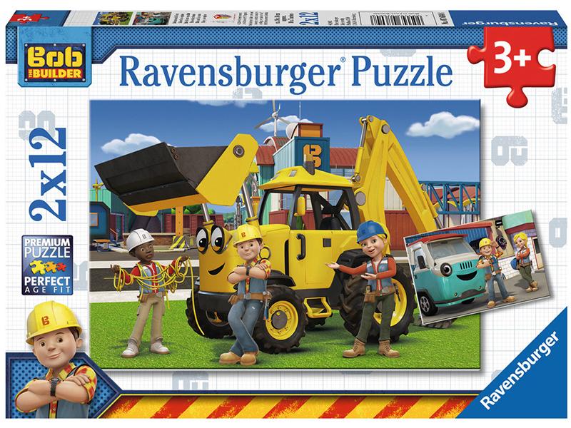 ravensburger kinderpuzzle bob der baumeister bob und sein team ab 3 jahren bei spielzeug24. Black Bedroom Furniture Sets. Home Design Ideas