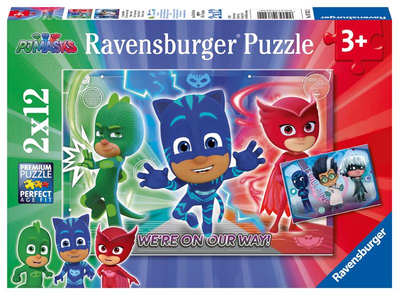 ravensburger kinderpuzzle pj masks gut gegen b se ab 3 jahren bei spielzeug24. Black Bedroom Furniture Sets. Home Design Ideas
