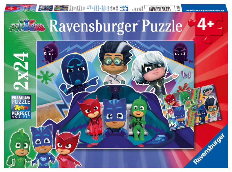 ravensburger kinderpuzzle pj masks retten den tag ab 4 jahren bei. Black Bedroom Furniture Sets. Home Design Ideas