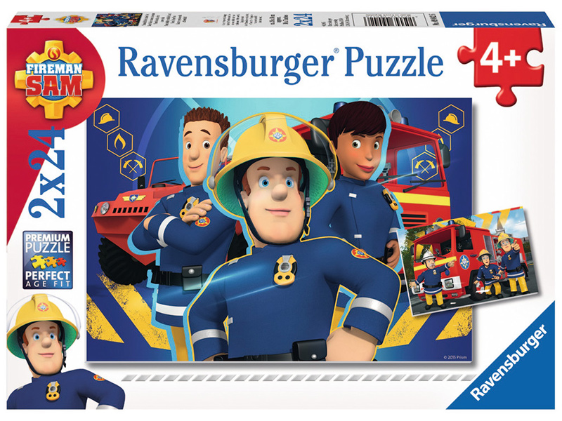 ravensburger kinderpuzzle feuerwehrmann sam sam hilft dir in der not ab 4 jahren bei. Black Bedroom Furniture Sets. Home Design Ideas