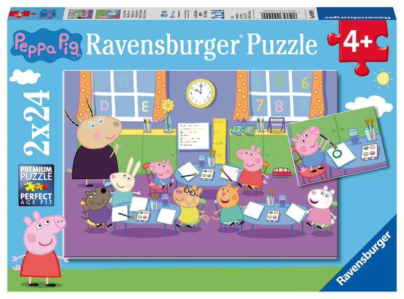 ravensburger kinderpuzzle peppa pig peppa in der schule ab 4 jahren bei spielzeug24. Black Bedroom Furniture Sets. Home Design Ideas