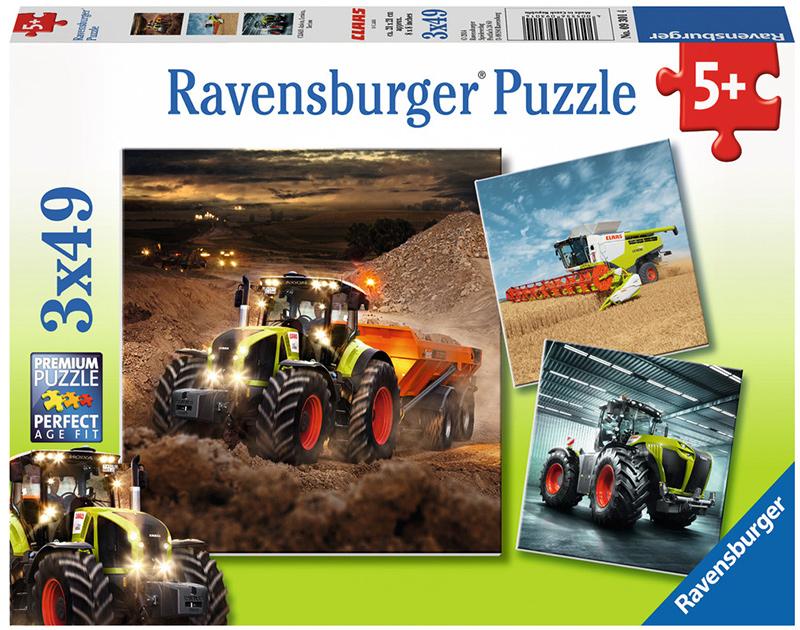 ravensburger kinderpuzzle claas traktoren axion lexion xerion ab 5 jahren bei spielzeug24. Black Bedroom Furniture Sets. Home Design Ideas