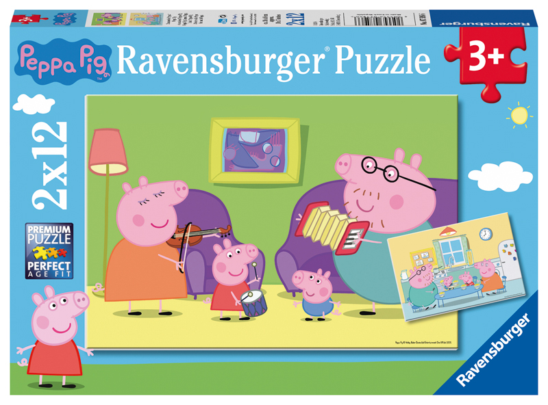 ravensburger kinderpuzzle peppa pig zuhause bei peppa ab 3 jahren bei. Black Bedroom Furniture Sets. Home Design Ideas