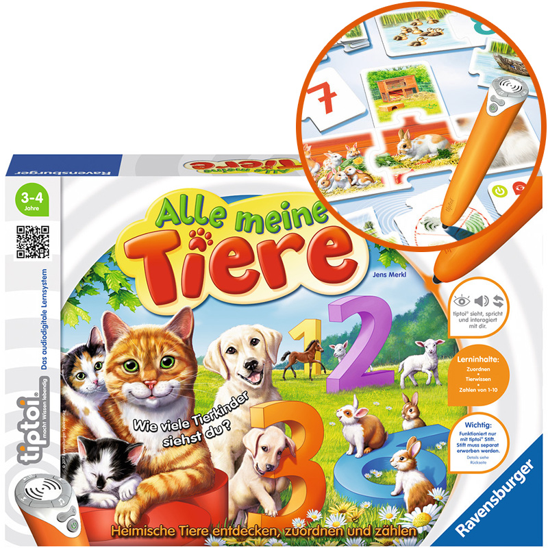Ravensburger Tiptoi Puzzle-Spiel Alle meine Tiere [Kinderspielzeug]