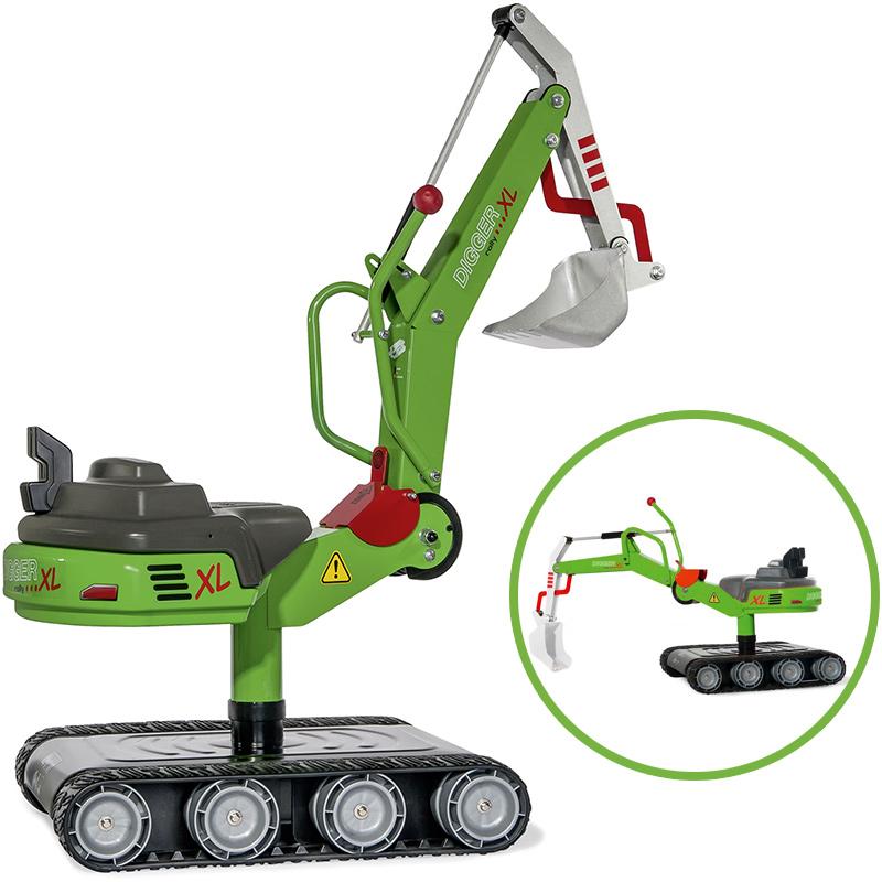 Rolly Toys RollyDigger XL Schaufelbagger aus Metall (Grün) [Kinderspielzeug]