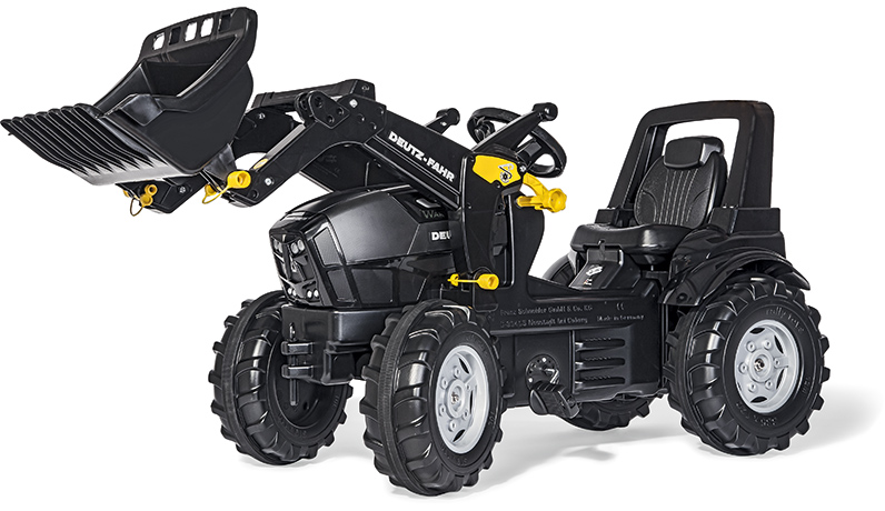Rolly Toys RollyFarmtrac Premium Deutz Fahr Agrotron TTV Warrior Traktor mit Frontlader [Kinderspielzeug]