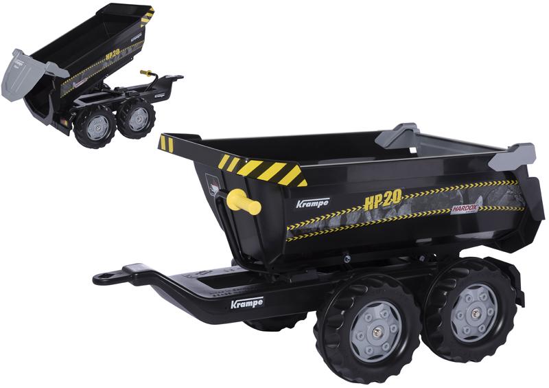 Rolly Toys RollyTrailer Krampe HP20 Anhänger Halfpipe (Schwarz) [Kinderspielzeug]