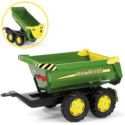 Fürtreter - Rolly Toys RollyTrailer John Deere Anhänger Halfpipe (Grün) [Kinderspielzeug] - Onlineshop
