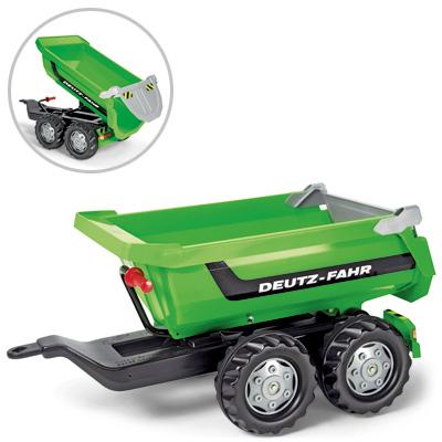 Rolly Toys RollyTrailer Deutz Fahr Anhänger Halfpipe (Grün) [Kinderspielzeug]