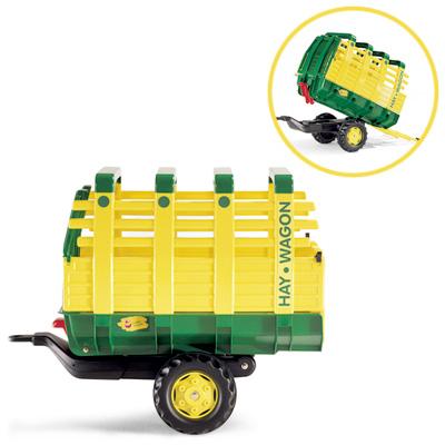 Fürtreter - Rolly Toys RollyTrailer Anhänger John Deere Hay Wagon (Grün) [Kinderspielzeug] - Onlineshop