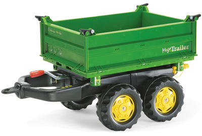 Rolly Toys RollyTrailer John Deere Anhänger Mega (Grün) [Kinderspielzeug]