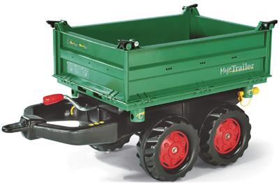Rolly Toys RollyTrailer Fendt Anhänger Mega (Grün) [Kinderspielzeug]