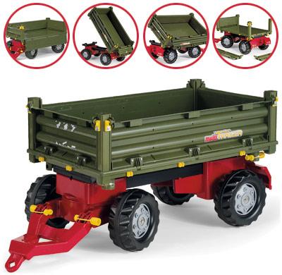 Rolly Toys RollyTrailer Anhänger Multi 2 achsig (Grün) [Kinderspielzeug]