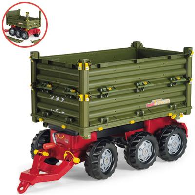 Rolly Toys RollyTrailer Anhänger Multi 3 achsig (Grün) [Kinderspielzeug]