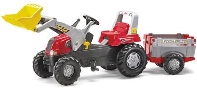 rolly-toys-rollyjunior-traktor-rt-mit-frontlader-und-farm-anhanger-rot-kinderspielzeug-