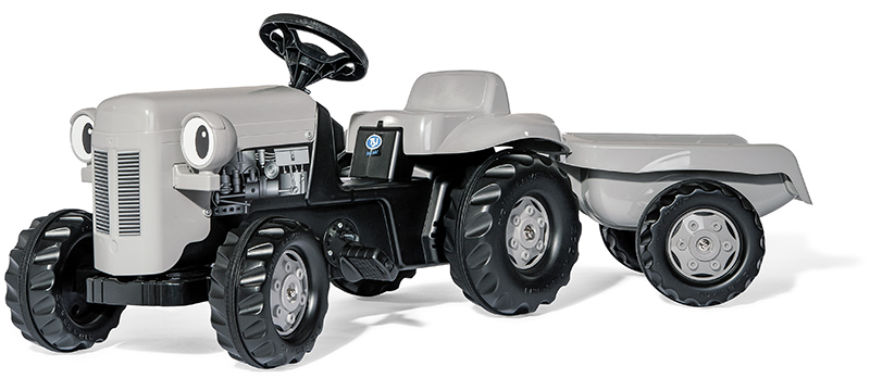 Rolly Toys RollyKid Little Grey Fergie Traktor mit Anhänger (Grau) [Kinderspielzeug]